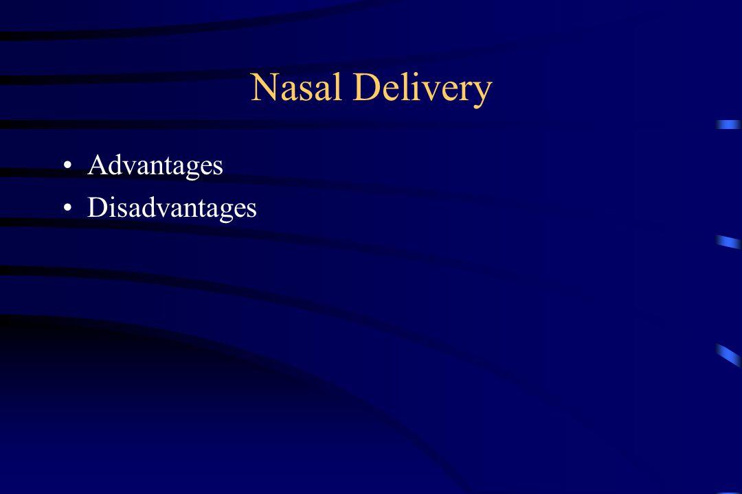 Nasal Delivery Advantages Disadvantages