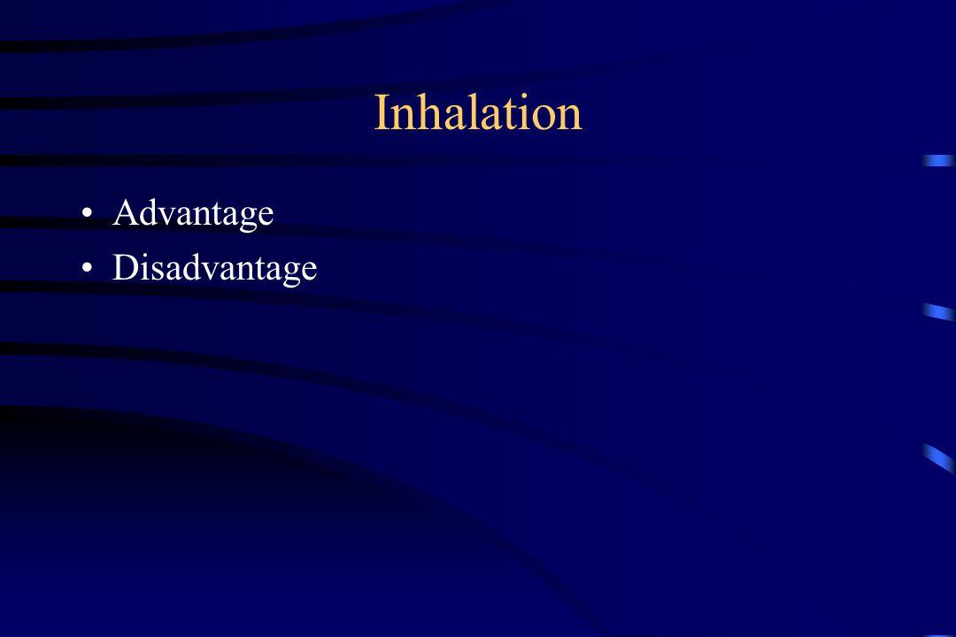 Inhalation Advantage Disadvantage