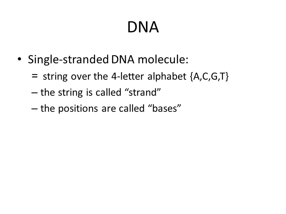 Ligate Sticker will just hold tuples together temporarily (until denaturation) Apply ligase (an enzyme) to truly concatenate Single strand sticker Concatenation Before ligation After ligation sticker