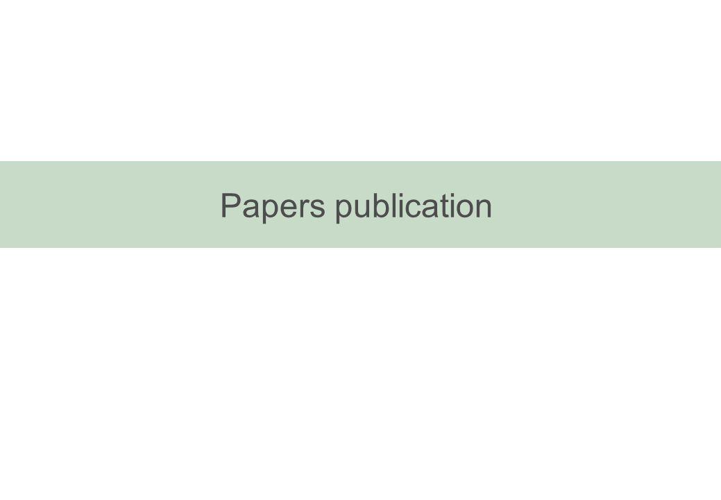 Papers publication