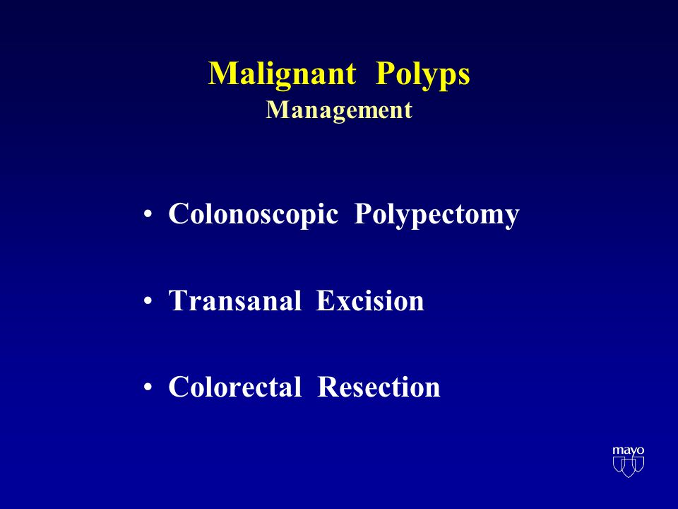 Malignant Polyps Who can have a local excision? Who needs a radical resection? T1 Nx Mx