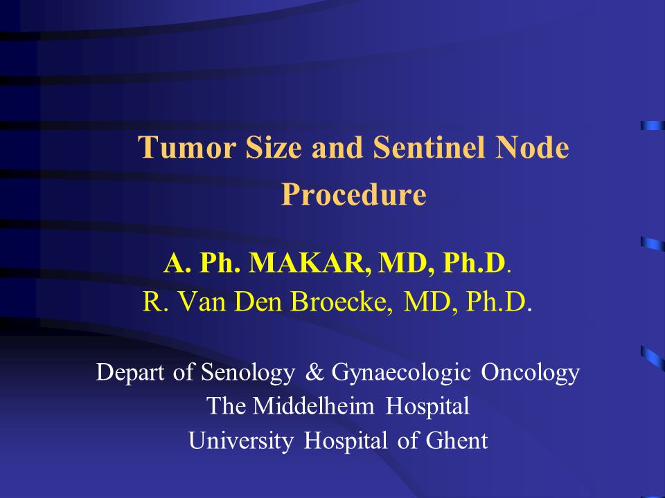 Increased risk of nodal metastases with multi-focal tumors Tumor size (mm) Uni-focal Multi-focal ( 877 tumors) (107 tumors) 1-10 11-20 21-30 >30 22% 45% 37% 51% 53% 72% 68% 100%