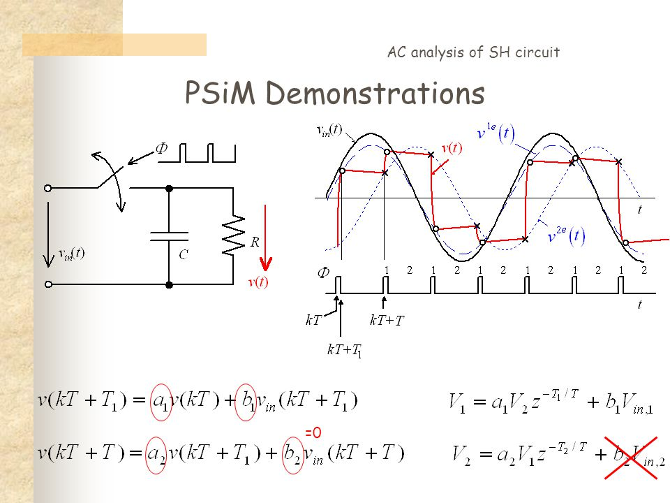 PSiM Demonstrations AC analysis of SH circuit =0
