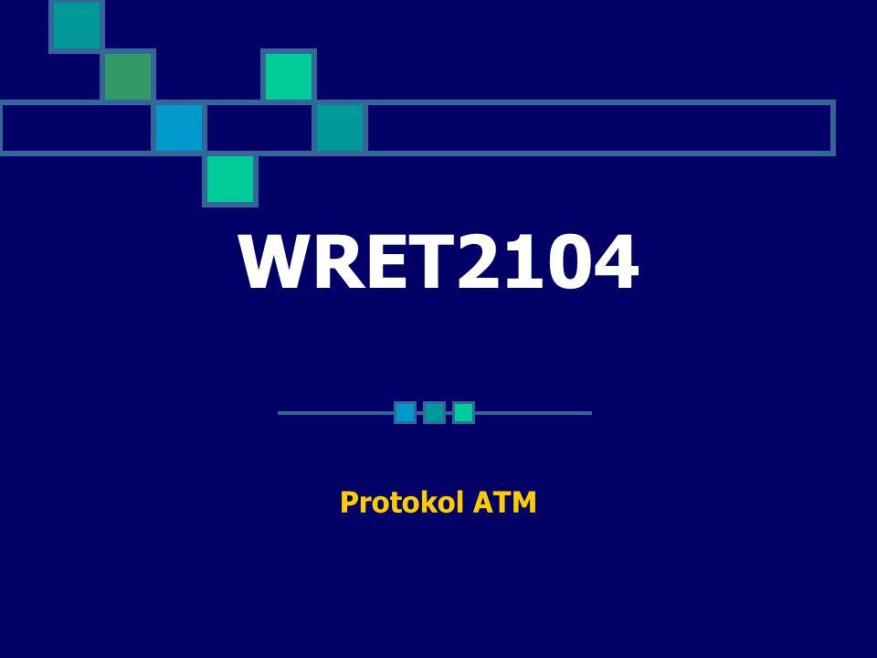 Physical Layer Protokol lapisan fizikal yang biasa digunakan dalam rangkaian ATM ialah SONET atas fiber protokol lapisan fizikal dibahagikan kepada dua sublapisan: Physical Medium-Dependent(PMD) sublapisan Sublapisan PMD termasuk fungsi penyiaran sebagai pemindahan bit dan susunan bit Transmission Convergence(TC) sublapisan.