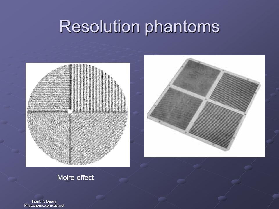 Frank P. Dawry Physx.home.comcast.net Resolution phantoms Moire effect