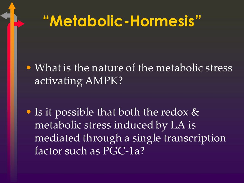 Metabolic-Hormesis What is the nature of the metabolic stress activating AMPK.