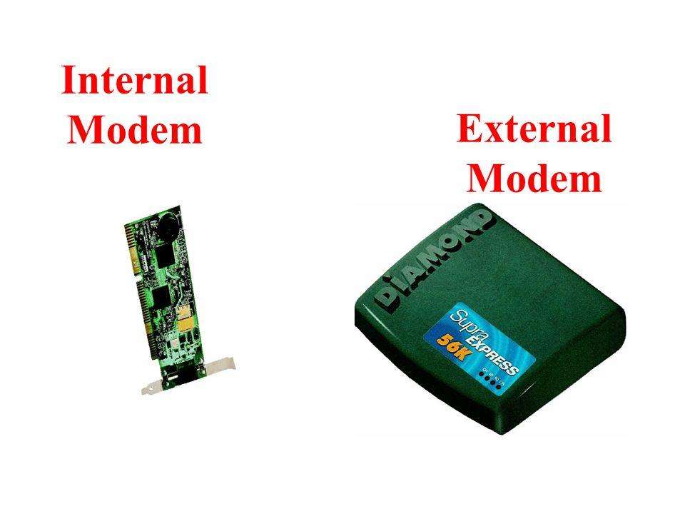 Internal Modem External Modem