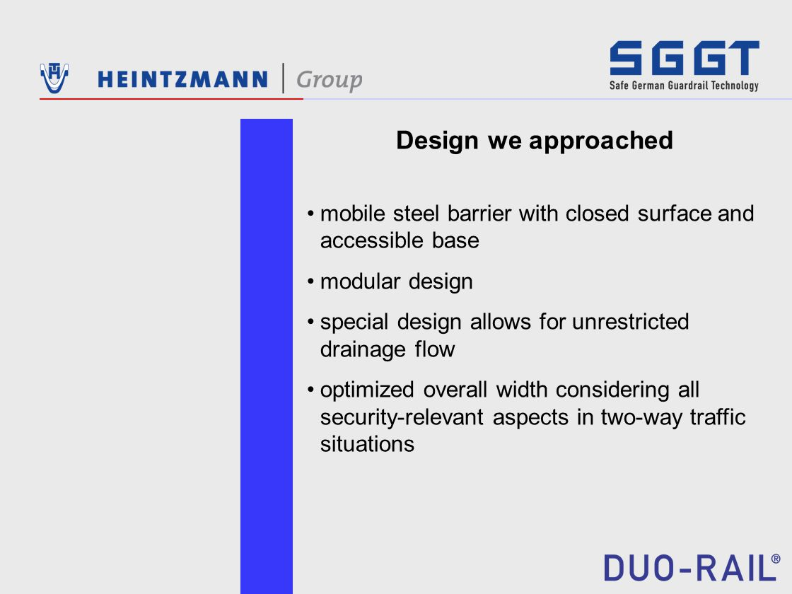 Design we approached mobile steel barrier with closed surface and accessible base modular design special design allows for unrestricted drainage flow