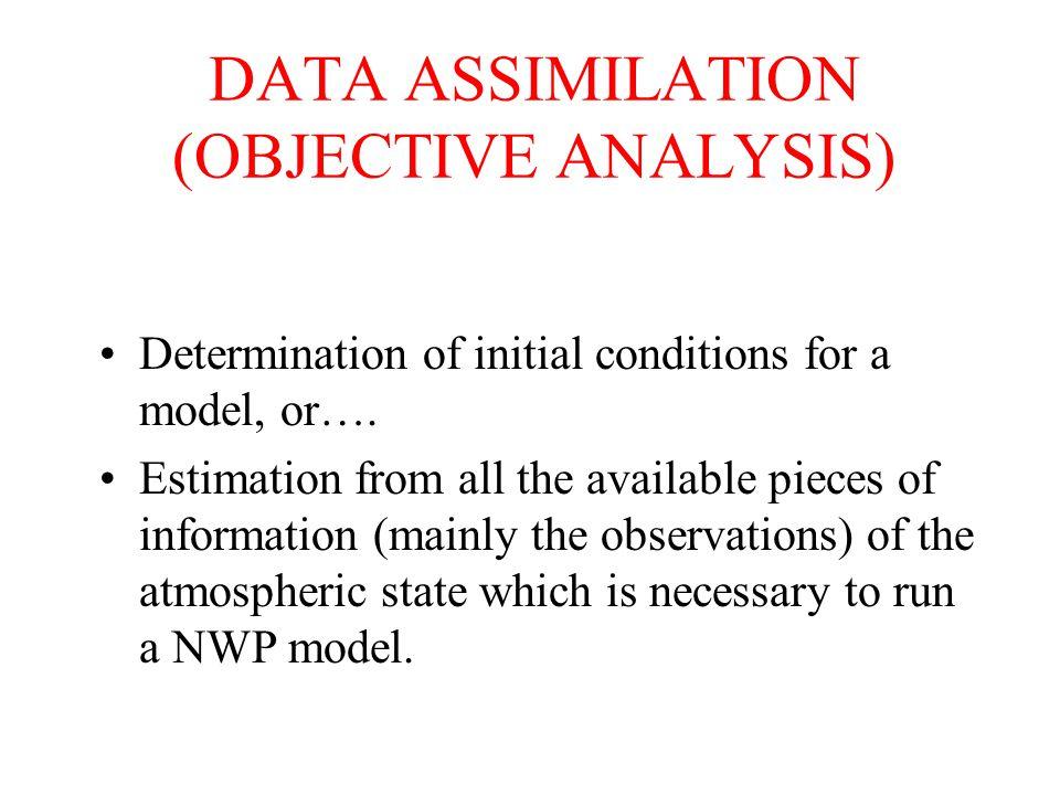 PRINCIPLE OF A VARIATIONAL ANALYSIS GLOBAL MINIMISATION OF a « COST FUNCTION »: J(X) = J o (X) + J b (X) (dist.