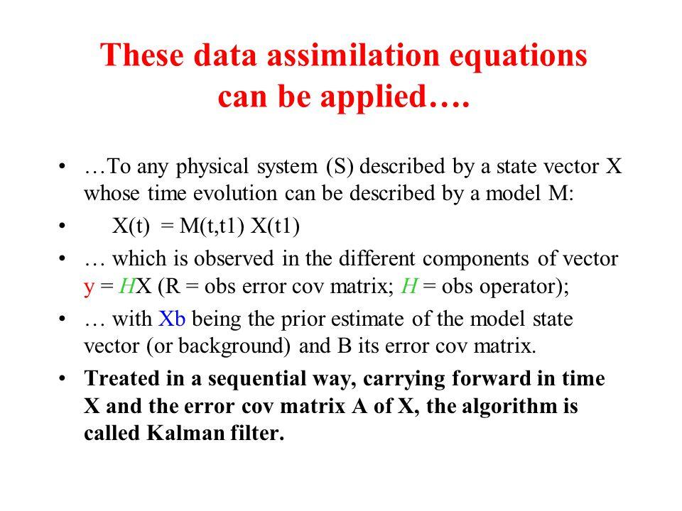 Principle of 4D-VAR assimilation 9h12h15h Assimilation window JbJb JoJo JoJo JoJo obs analysis xaxa xbxb Corrected forecast Previous forecast