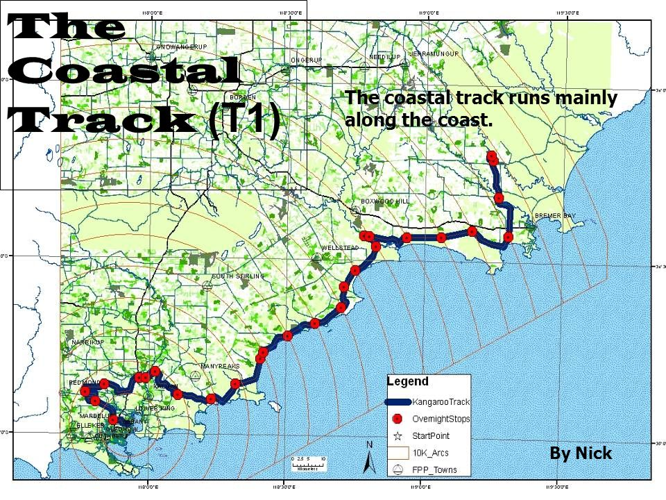 The Coastal Track (T1) The coastal track runs mainly along the coast. By Nick