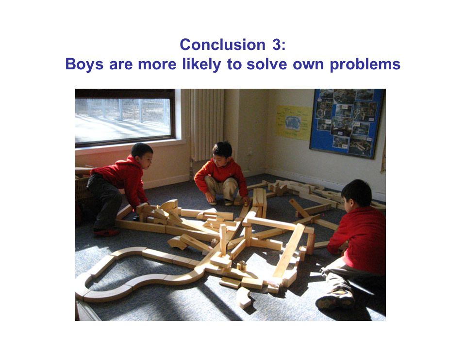 Conclusion 3: Boys are more likely to solve own problems