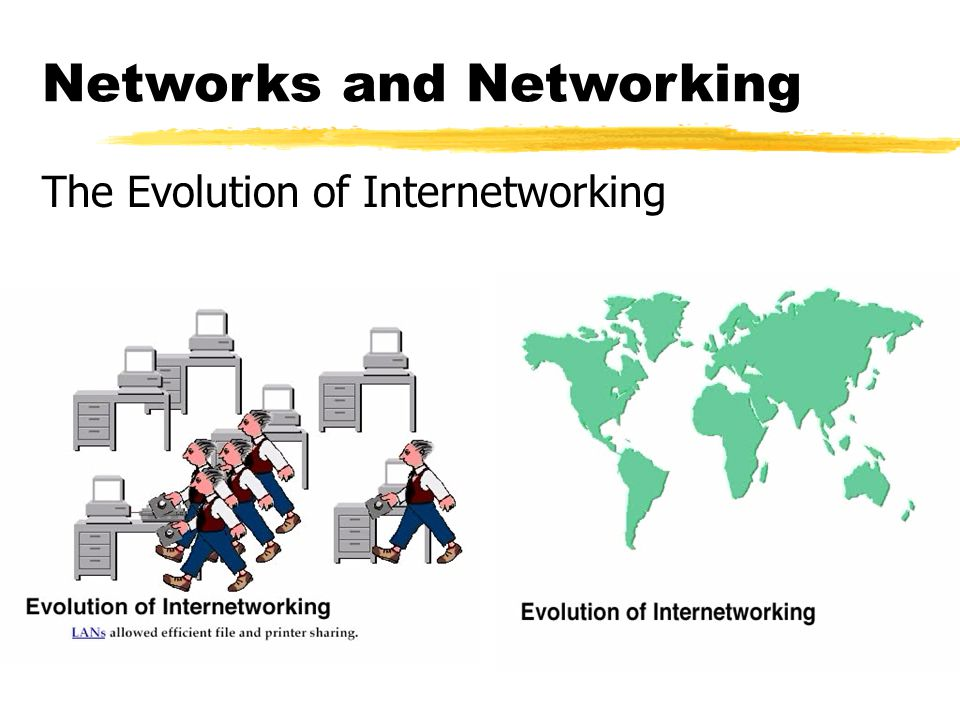 Networks and Networking The Evolution of Internetworking