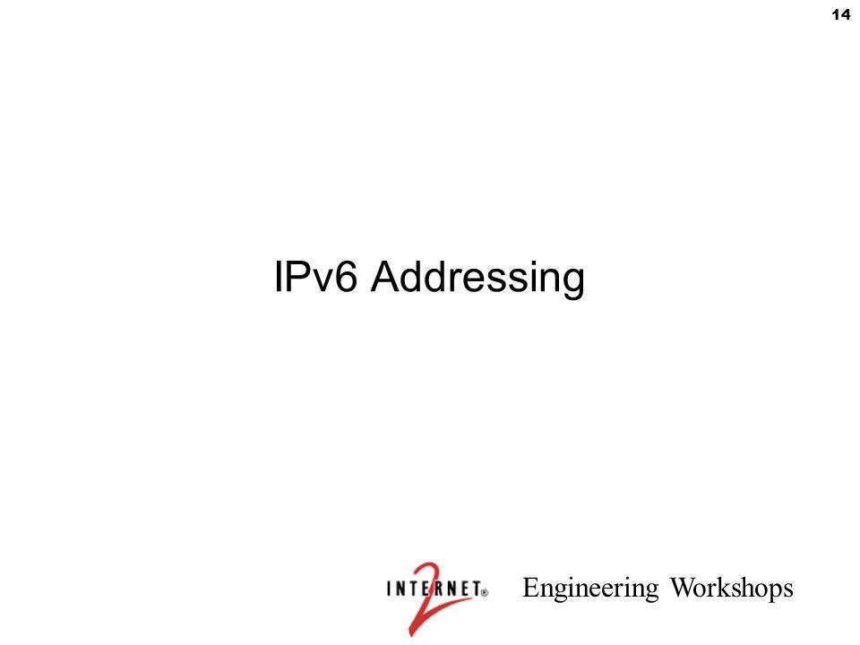 Engineering Workshops 14 IPv6 Addressing