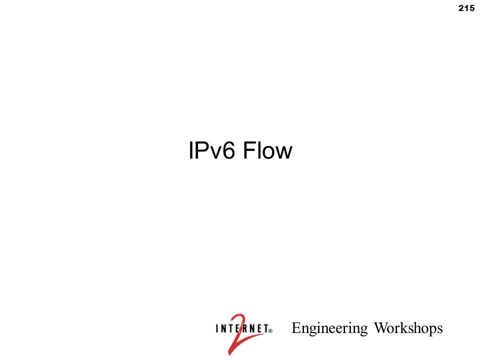 Engineering Workshops 215 IPv6 Flow