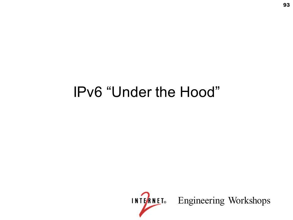 """Engineering Workshops 93 IPv6 """"Under the Hood"""""""