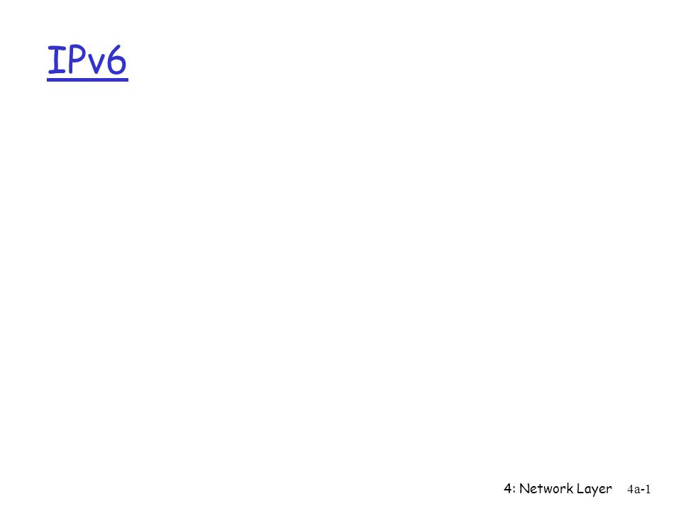 4: Network Layer4a-1 IPv6