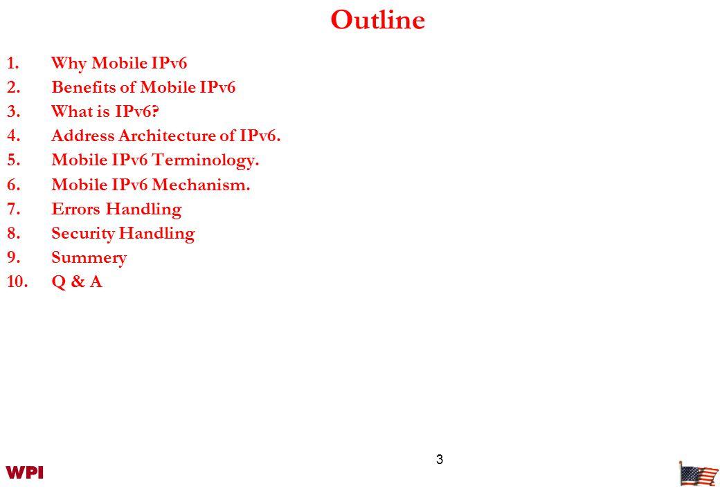 4 Why Mobile IPv6.-- Propellant factors.