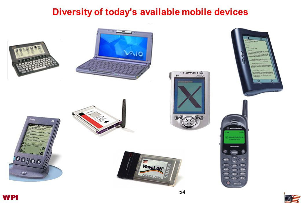 54 Diversity of today s available mobile devices