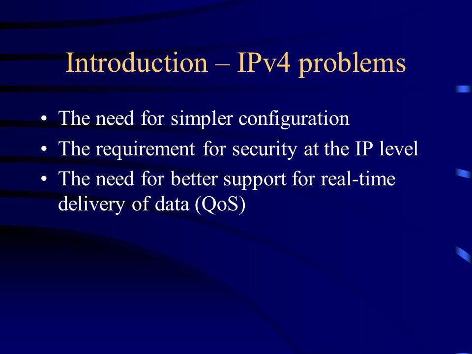 IPv4 & IPv6 addresses Multicast addresses (224.0.0.0/4) Broadcast addresses Unspecified add.