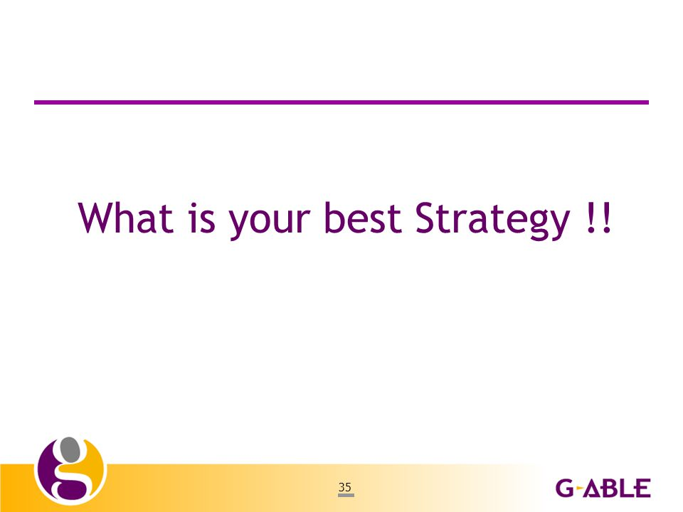 35 What is your best Strategy !!