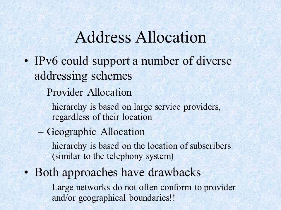 Extension Headers Ê Hop-by-Hop options header Ë Destination options header-1 Ì Source Routing header Í Fragmentation header Î Authentication header Ï IPv6 Encryption header Ð Destination options header-2