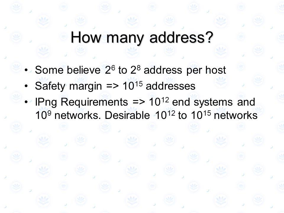 How many address.
