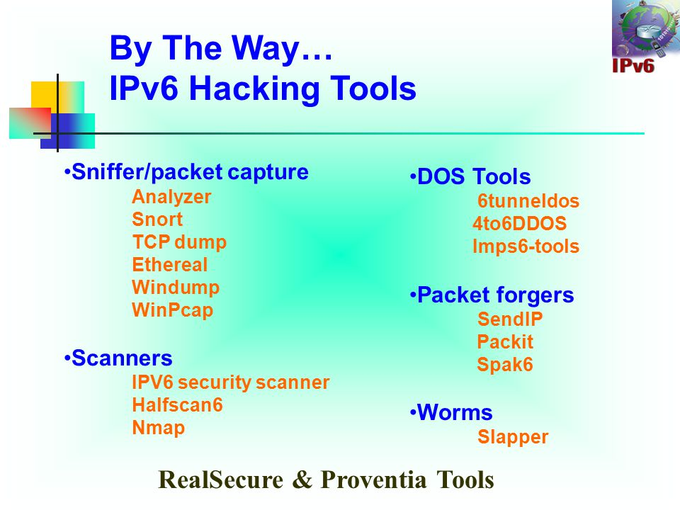 Security issues in IPV6: IPSEC Relies on PKI, Not yet fully Standardized Scanning possible – If poorly designed No protection against all denial of service attack (DoS attacks difficult to prevent in most cases) No many firewalls in market with V6 capable But