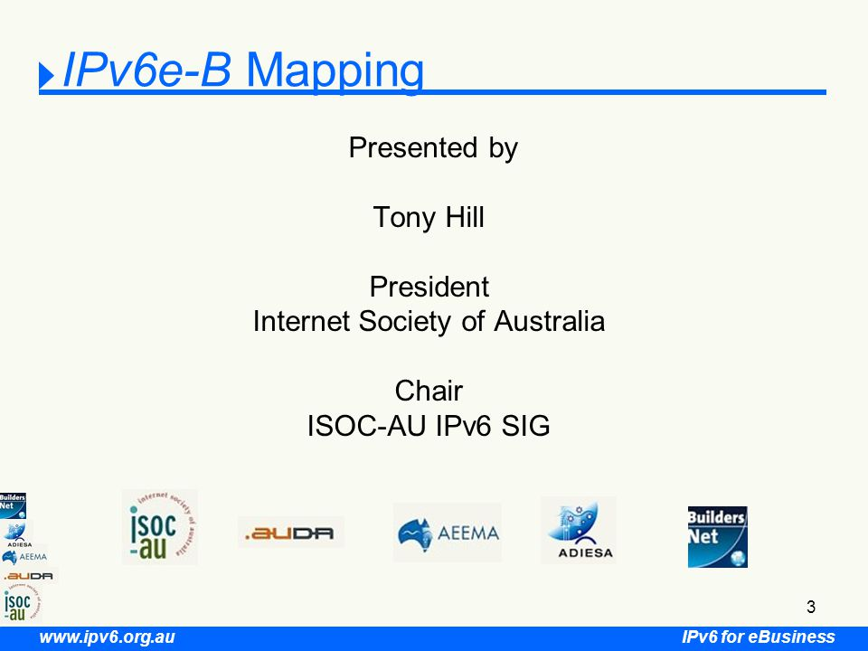 IPv6 for eBusiness www.ipv6.org.au 54 What has been completed.