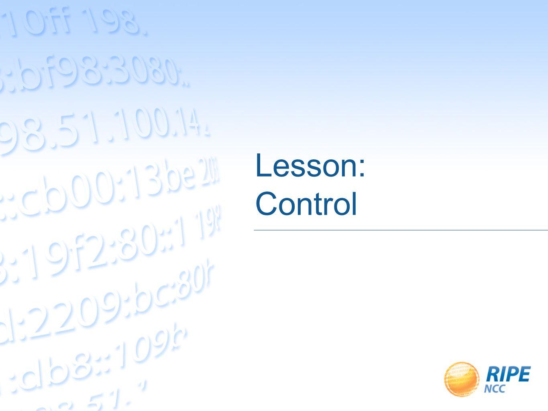 Lesson: Control