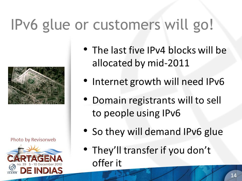 IPv6 glue or customers will go.