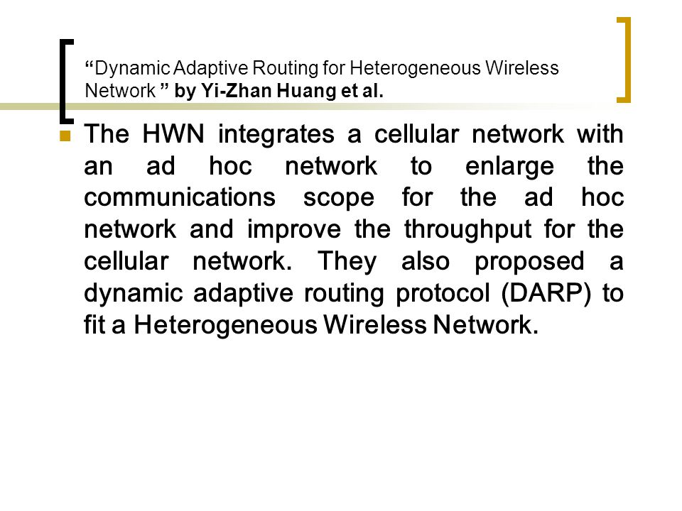 Evaluation of mobile ad-hoc network techniques in a cellular network by Wijting, C.