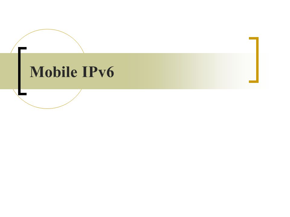 Mobile IPv4 : Concepts HA Foreign Network Internet CN Home Network FA Mobile Node ※ 若拜訪網路有作 ingress filtering , 則可以透過 FA 轉送至 HA 再行傳送 到 CN