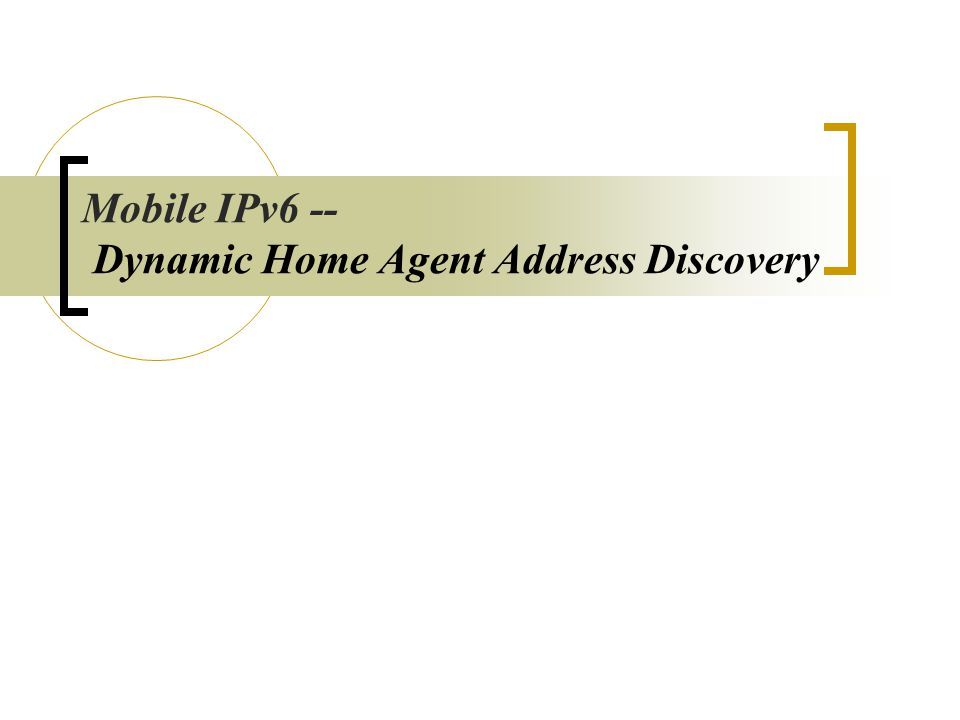 HA Internet CN Home Network Mobile Node Mobile IPv6 : Concepts S : MN's COA D : CN's IP PayLoadIP HeaderHA DestOpt (includes MN's Home Address) S : CN's IP D : MN's COA PayLoadIP HeaderRouting Header (includes MN's Home Address)