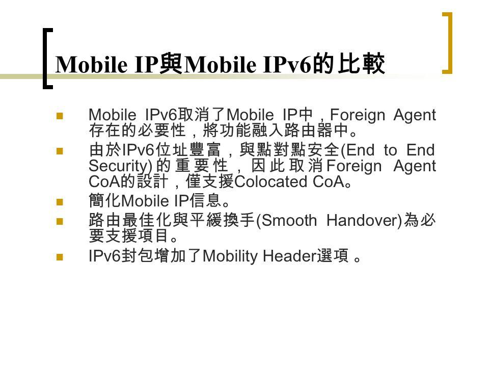 Mobile IPv4 vs IPv6