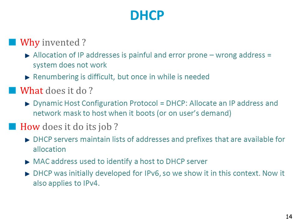 DHCP Why invented .
