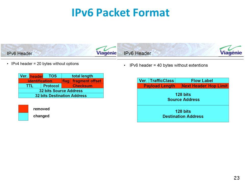 IPv6 Packet Format 23