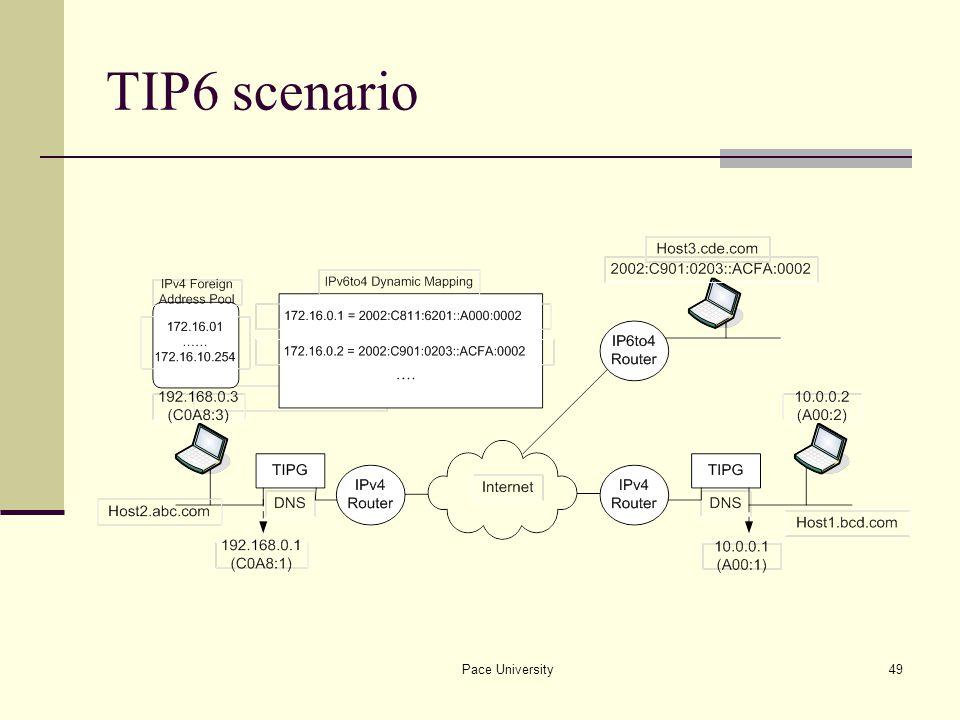 Pace University49 TIP6 scenario