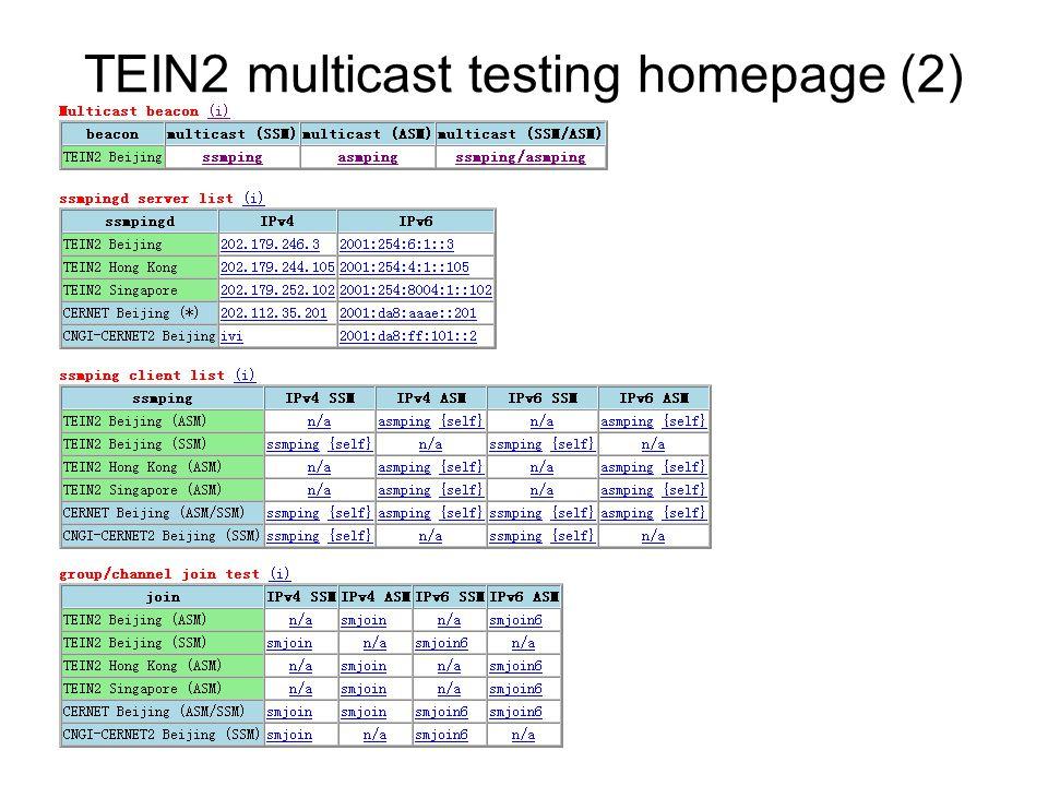 TEIN2 multicast testing homepage (2)