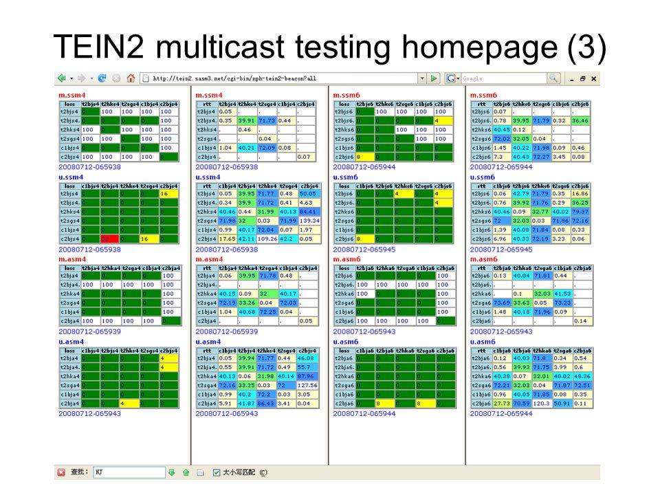 TEIN2 multicast testing homepage (3)
