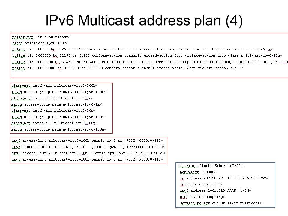 IPv6 Multicast address plan (4)