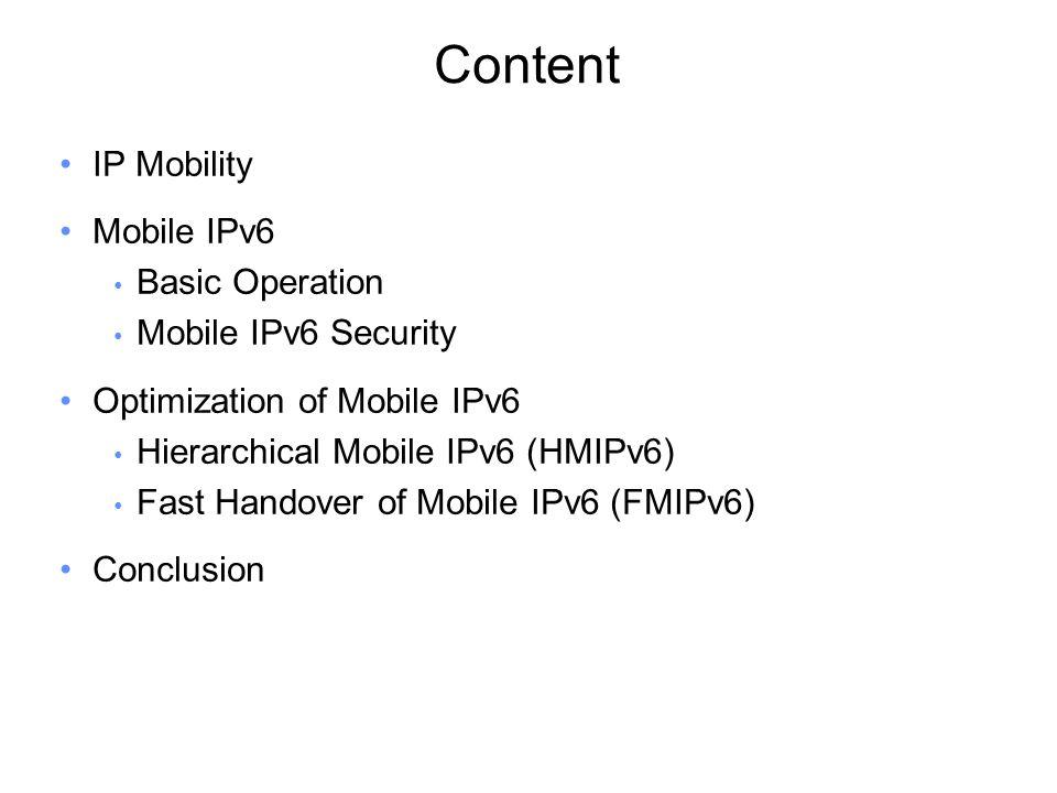 Mobile Node Home Agent Binding Update Binding ACK IPv6 header source = care-of adress destination = home agent ESP header Dest.