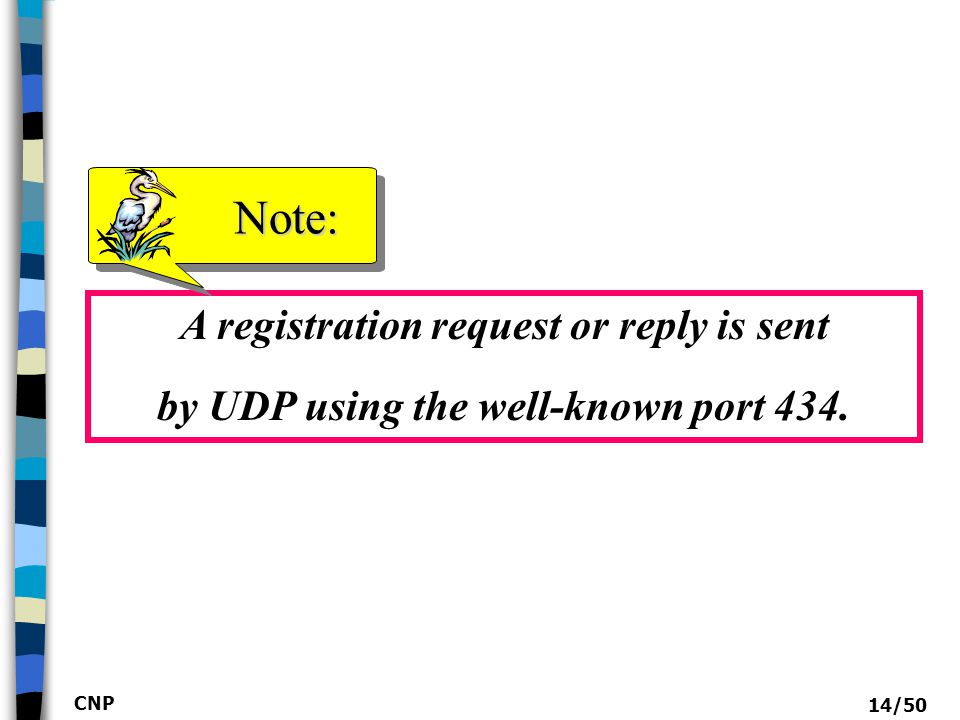 CNP 15/50 Registration request format