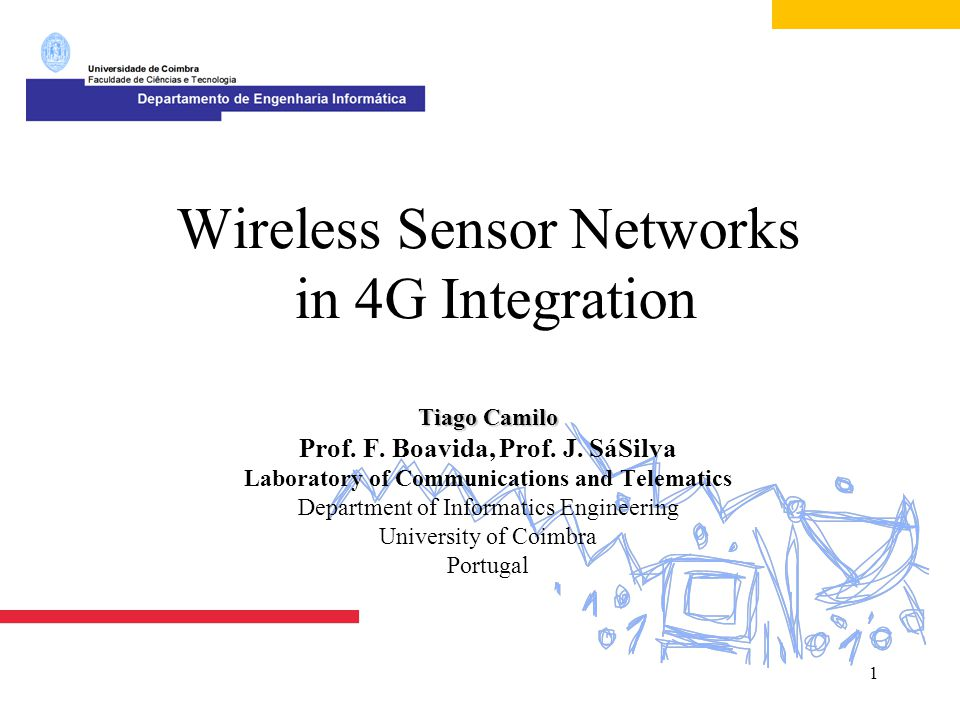 2  Laboratory of Communication and Telematics  IP in WSN  MAR Model Overview