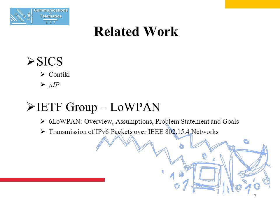 8 Mar's Keys Research Topics  Sensor Routers  IPv6  Anycast  Ant Colony Optimization