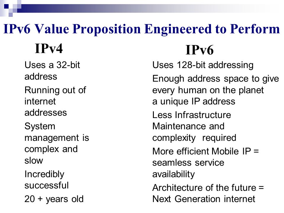 """Changes From IPv4 to IPv6 (3/3) Security: confidentiality. Large Packets: longer than 64K bytes called """"jumbo"""" payloads. Fragmentation at source only:"""