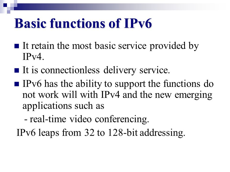 How IPv6 Developed The current version (IPv4) is running out of addresses and become too complex to manage. It is designed to interoperate with IPv4 b