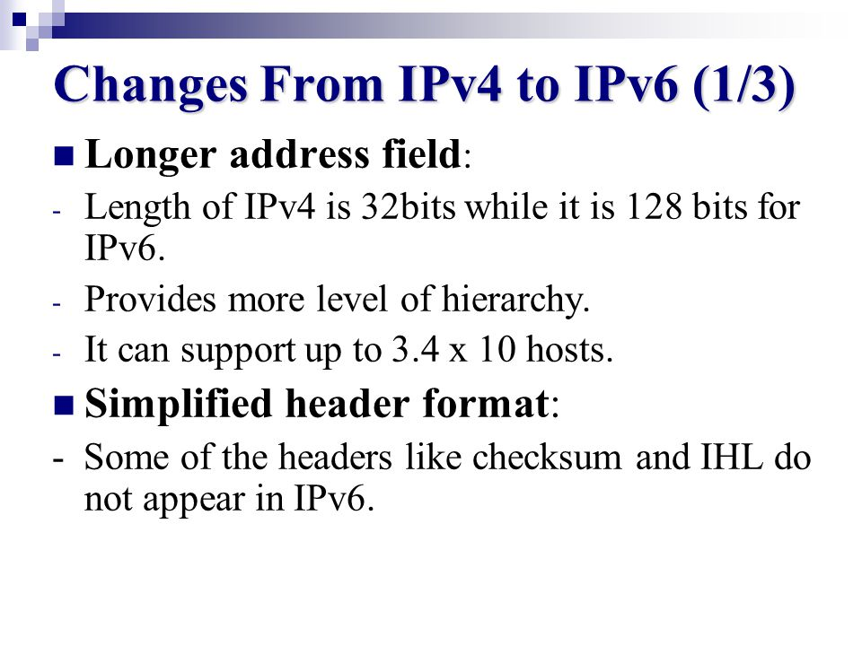 IPv6 Offerings Increased address space.Improved efficiency in routing and packet handling.