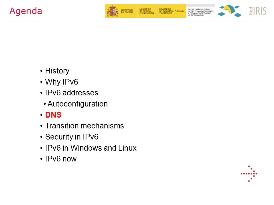 31 Agenda History Why IPv6 IPv6 addresses Autoconfiguration DNS Transition mechanisms Security in IPv6 IPv6 in Windows and Linux IPv6 now