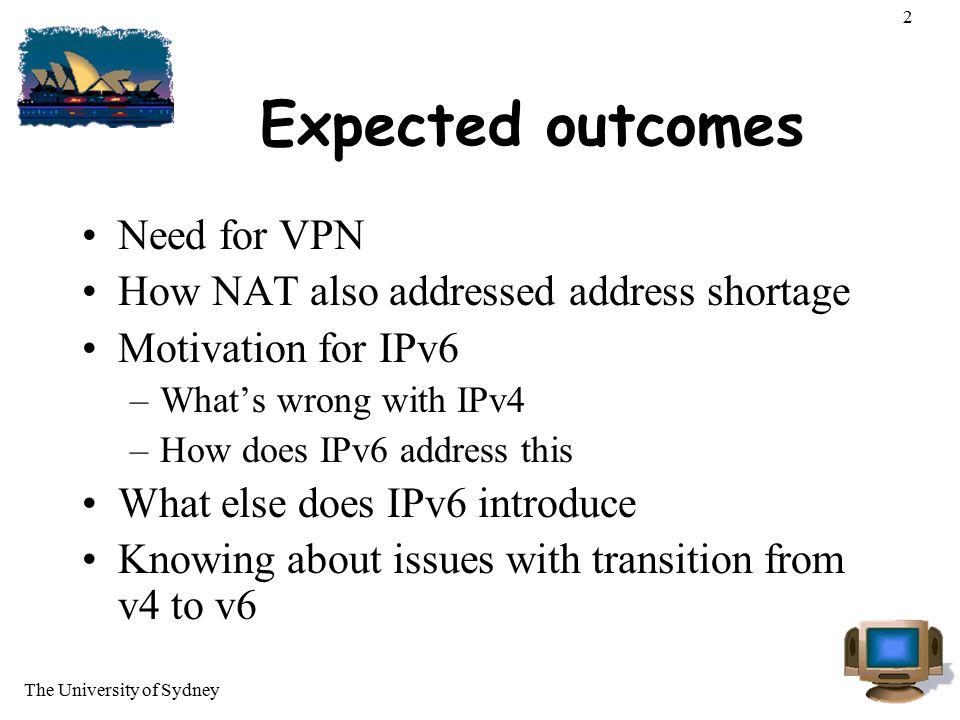 The University of Sydney 23 IPv6 Header Fragmentation in extension header.